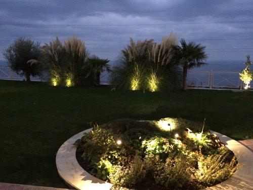Ландшафтное освещение частного дома