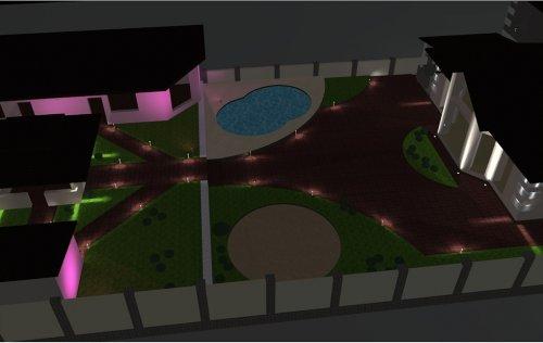 Проект «Наружное освещение частного дома»