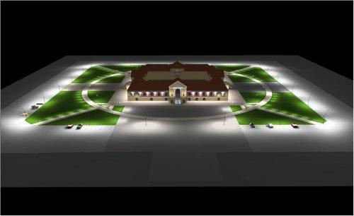 Освещение площади