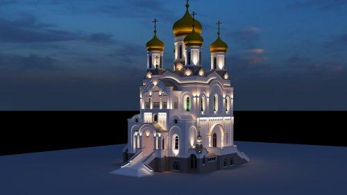 Подсветка храма